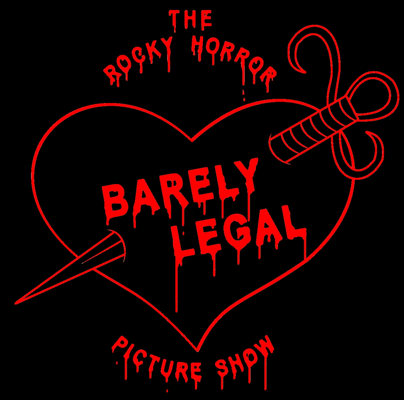 Barely Legal Rocky Horror Logo
